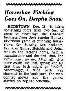 Horseshoe Pitching Goes On 12.19.1944