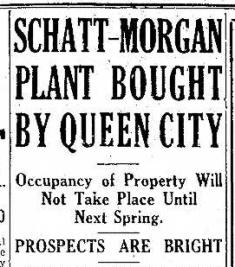 Schatt Morgan Bought by Queen City 8.22.1933