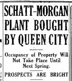 Schatt Morgan Bought by Queen City 8.22.1933