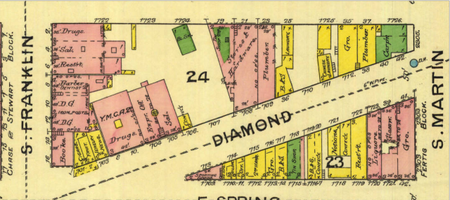 Sanborn March 1887 Diamond St.png