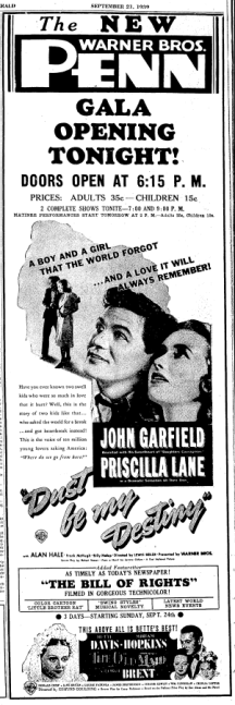 First Penn Theatre Full Ad 9.21.39