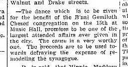 Bnai Gemiluth Dance 10.8.1901