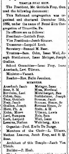 Members of Bnai Zion 6.13.1871