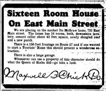 1930 House Sale Ad 8.28.1930