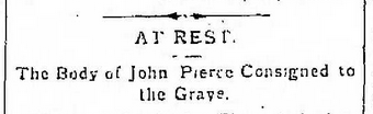 John Pierce Headline 4.6.1883
