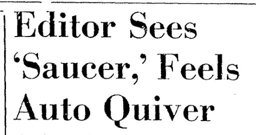 Herald Sees Saucer 8.25.1952