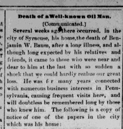 BW Baum Obit warren-daily-mirror-Apr-09-1887-p-4