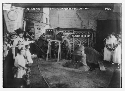 Casting the Suffrage Liberty Bell at Troy, NY, Bain Collection, LOC