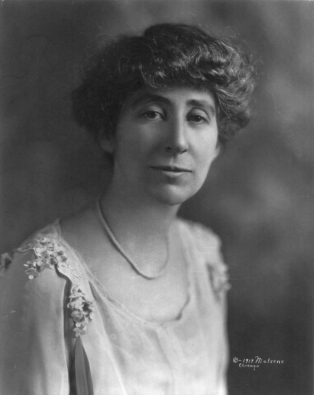 Jeannette Rankin, 1917, Library of Congress.