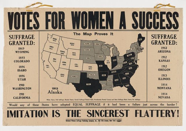 Votes_for_Women_A_Success._Imitation_is_the_Sincerest_Flattery 1914 Flyer PD