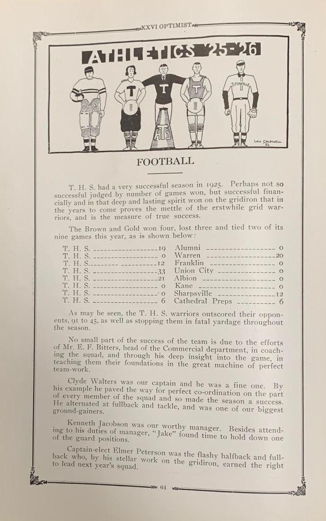 Football THS 1925