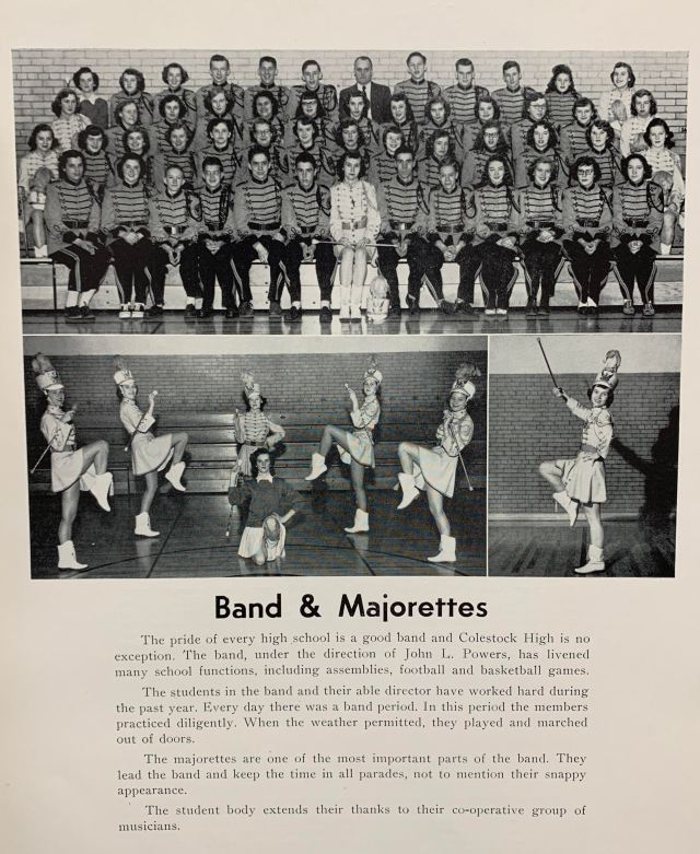 THS Band and Majorettes 1961