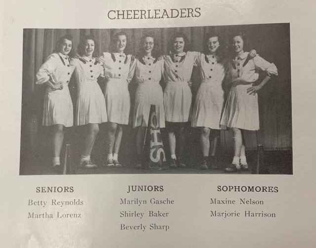 THS Cheerleaders 1945