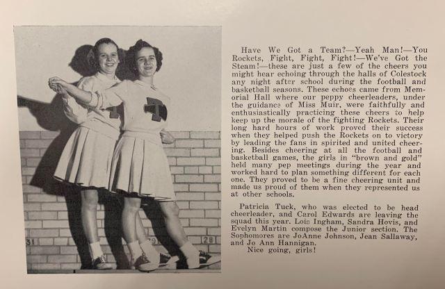 THS Cheerleaders 2 1961