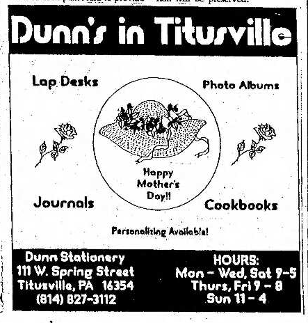 Dunns Stationary 5.6.1993