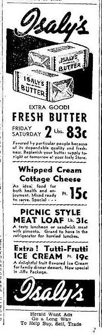 Isaly's Advertisement 5.15.1942