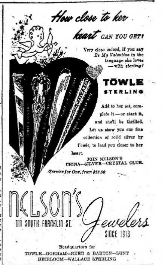 Nelsons Jewelers 2.13.1959