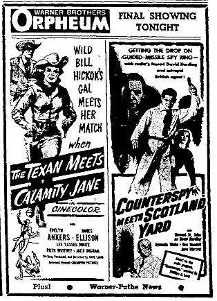 Orpheum Theater 1.29.1952