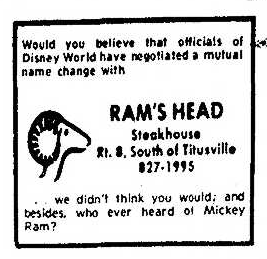 Ram's Head 5.17.1974