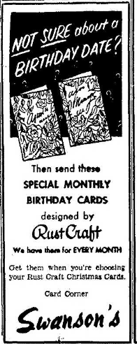 Swansons 12.2.1954