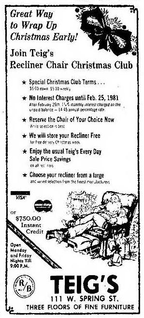 Teig's Ad 10.17.1980