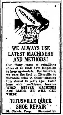 Titusville Quick Shoe Repair 2.17.1940