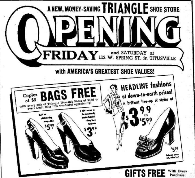 Triangle Shoe Store 9.13.1951