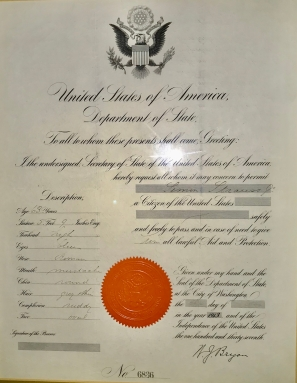 Citizenship for Simon Strauss Jr