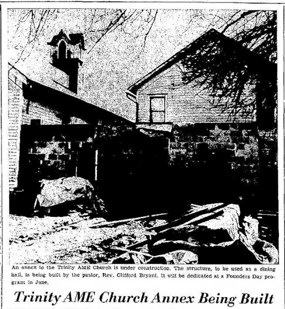 Trinity AME Church Annex. Source: Titusville Herald March 21, 1957.